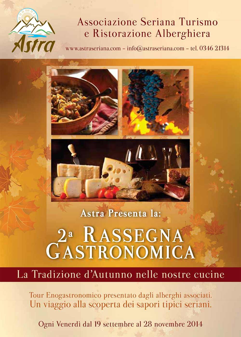 """2^ Rassegna gastronomica A.S.T.R.A. """"La Tradizione d'Autunno nelle Nostre Cucine"""" - Clusone"""