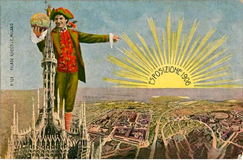 Expo 1906, cartolina commemorativa