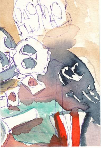 Un'opera di Sandro Chia.