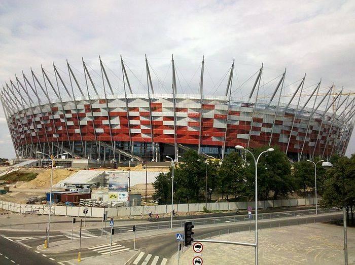 Lo stadio nazionale di Varsavia