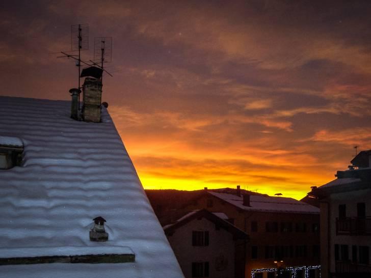 tramonto invernale