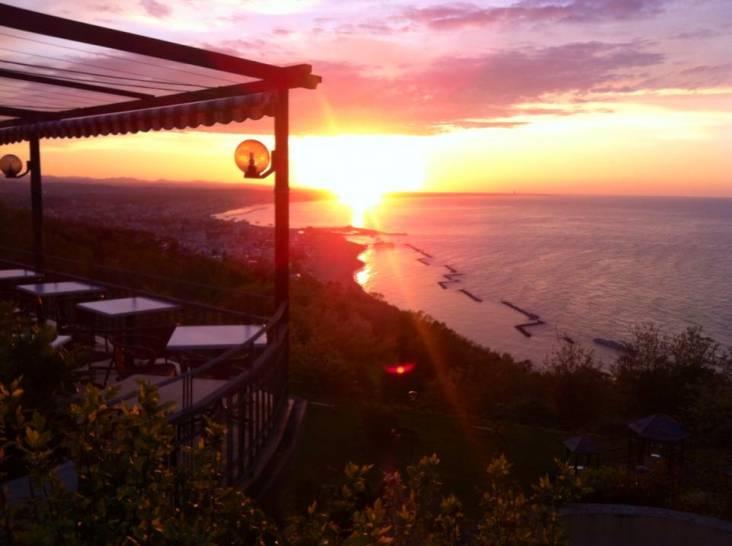 Il sole che cade nel mare...