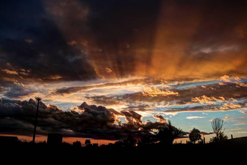 Raggiante tramonto.