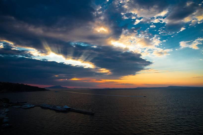 tramonto a Sorrento