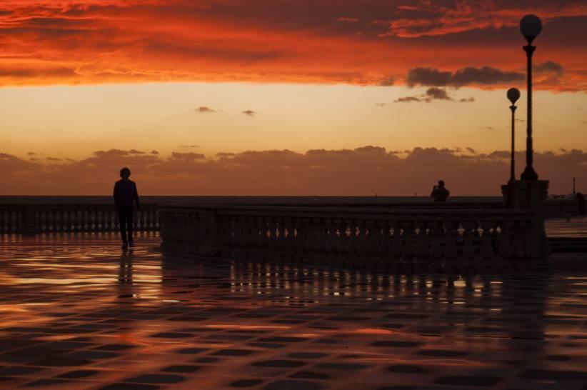 Il tramonto dopo la pioggia