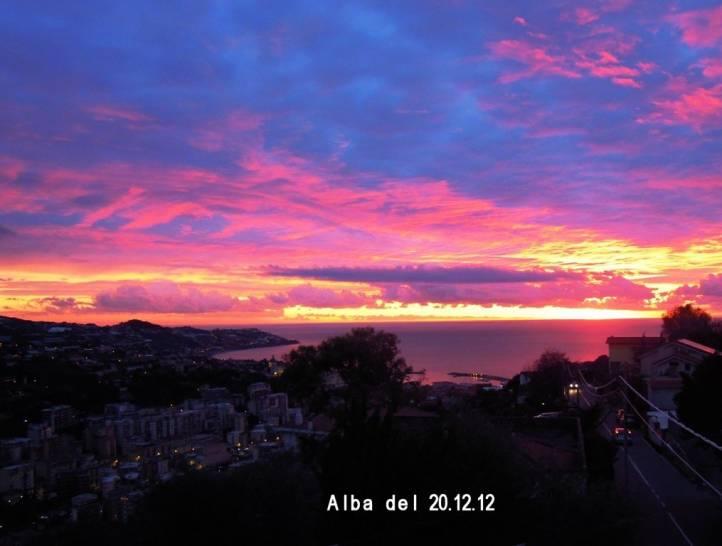 Alba d'inverno a Sanremo
