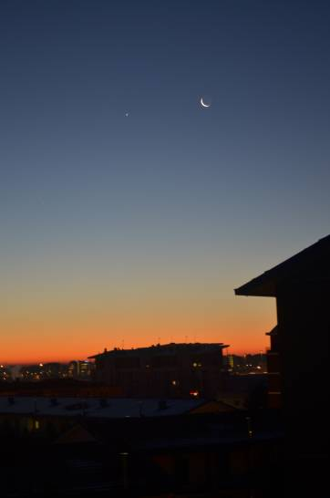 All'alba,Il cielo sopra Milano. 11 Dicembre 2012