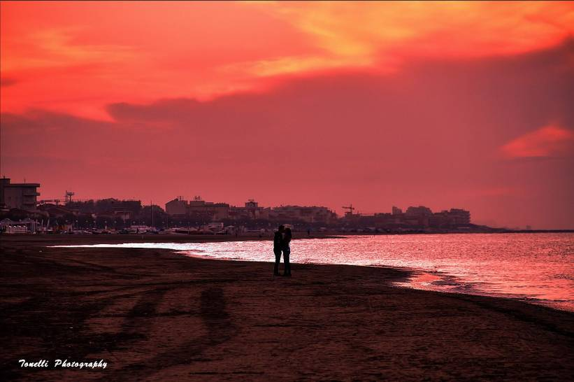 tramonto a Senigallia