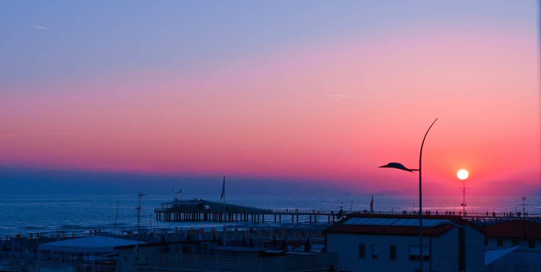 I colori del tramonto-Lido di Camaiore