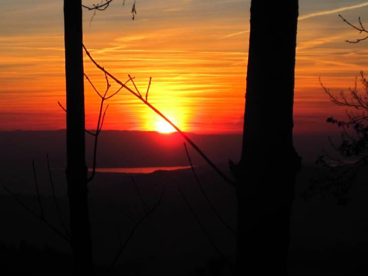 un lembo del Lago di Garda al tramonto...