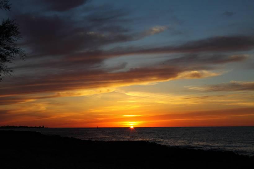 tramonto di Punta Raisi (Palermo)