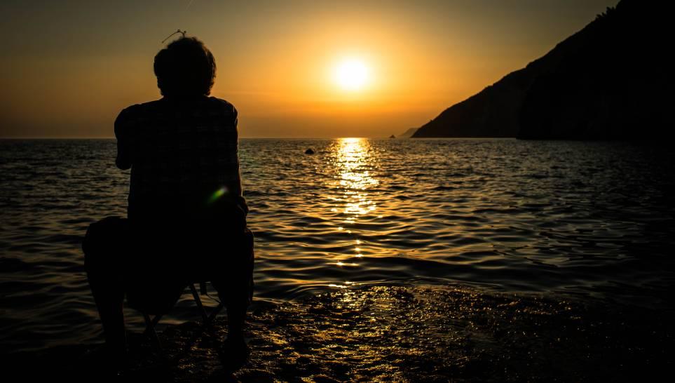 il caloroso tramonto di Portovenere