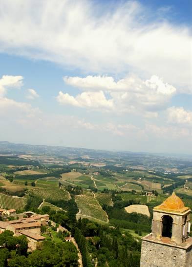 Il cielo sopra San Gimignano