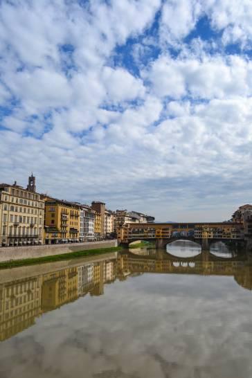Nuvole su Ponte Vecchio