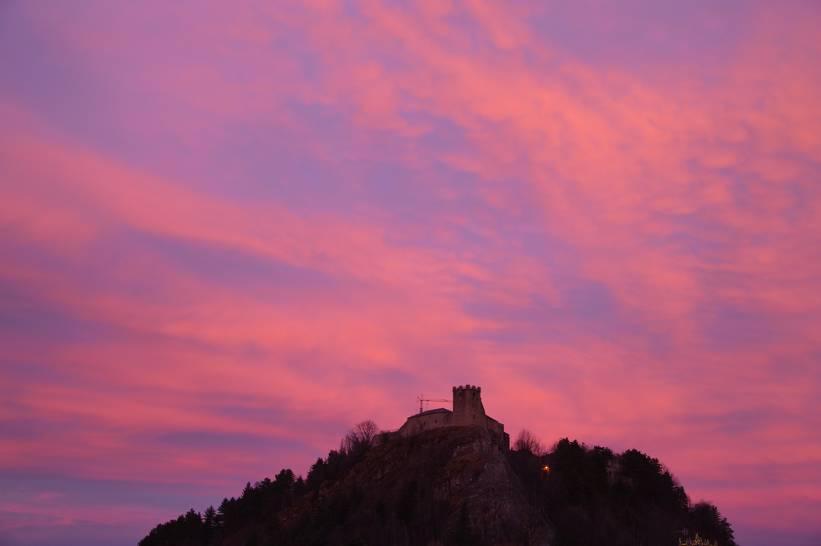 Tramonto sulla Rocca di Sestola