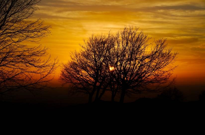 tramonto sopra al Tuscolo