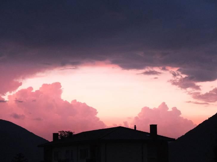tramonto sopra Varese