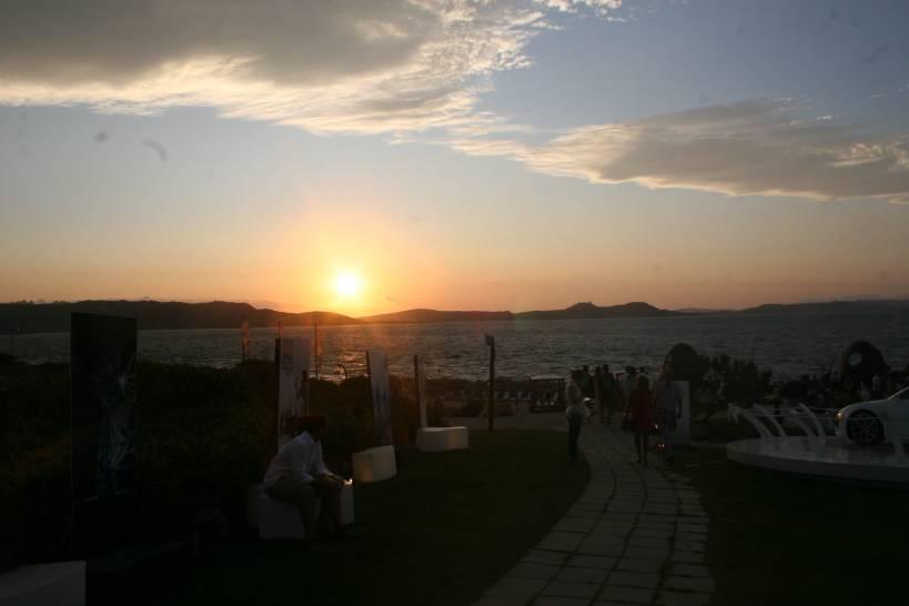 tramonto a Baia Sardinia