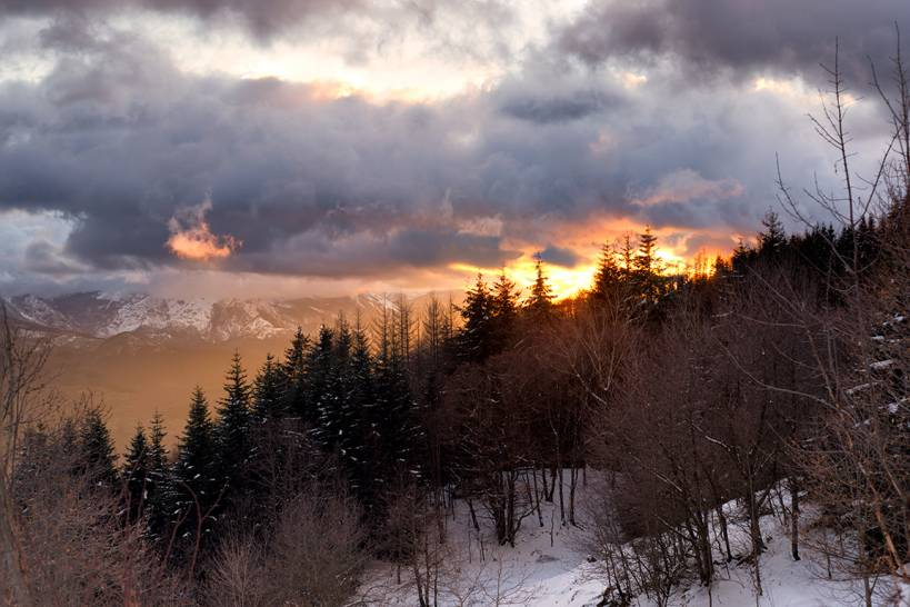 Il cielo al tramonto, i suoi colori