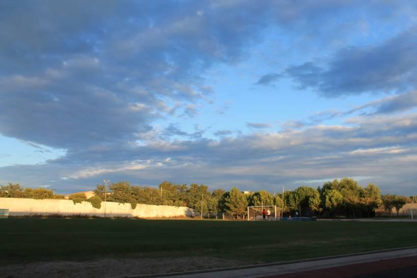 Il cielo sopra lo stadio di Porto San Giorgio (FM)