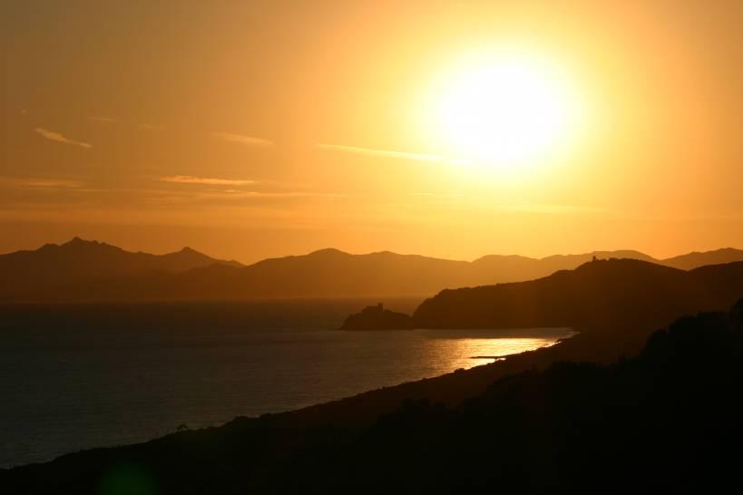tramonto a Castiglione della Pescaia