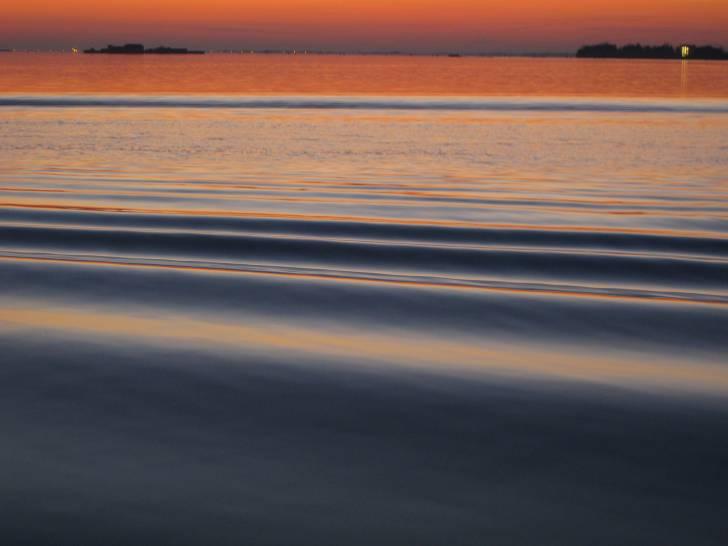 plissettature nella Laguna di Venezia