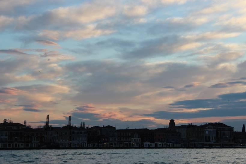 Nuvole rosa sulla Giudecca
