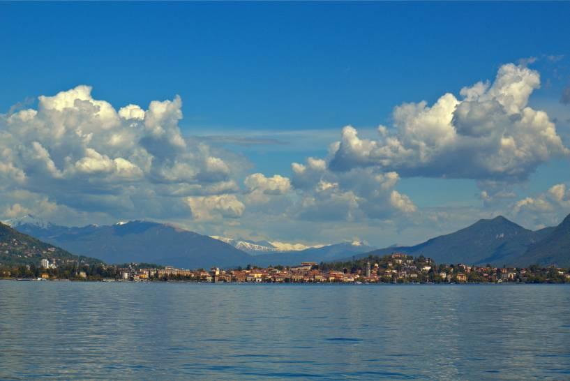 Il cielo,sul Lago Maggiore