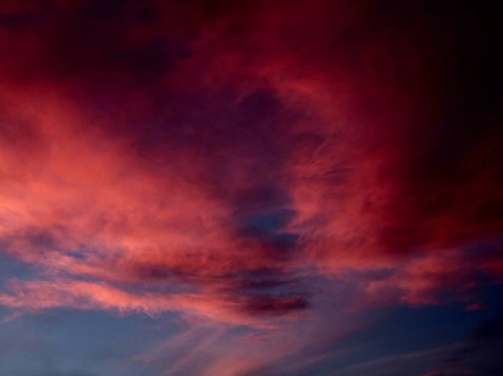 Al tramonto dopo il temporale a Cervo.