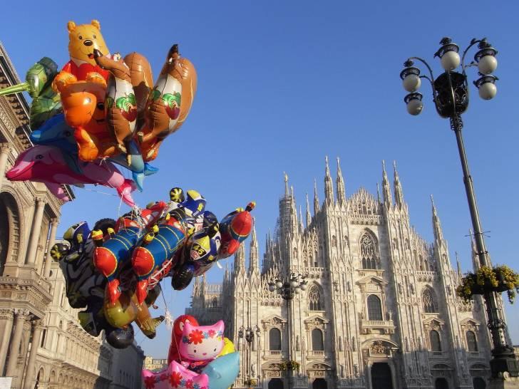 Ciel azur a Milan!