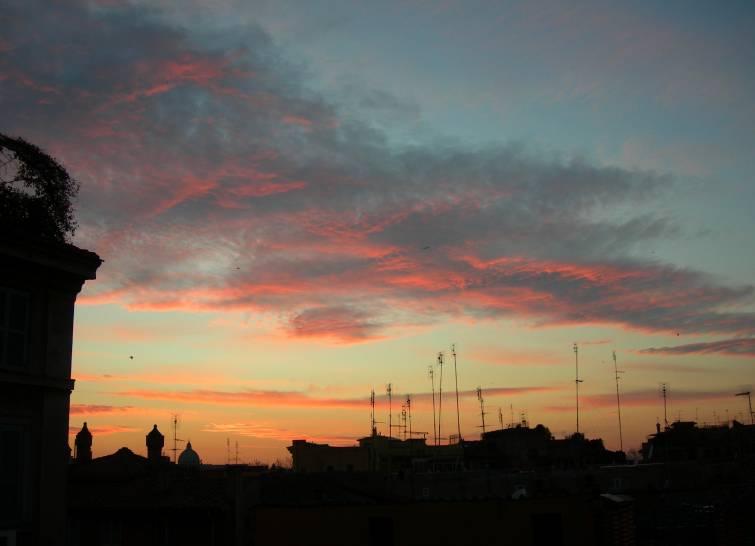 Roma brucia sopra la divina cupola