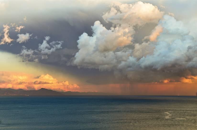 Tempesta sul mare di Arenzano