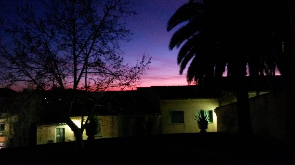 I colori del tramonto di Laconi (Or)