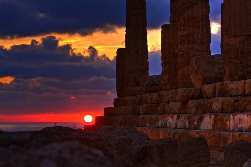 tramonto su Giunone