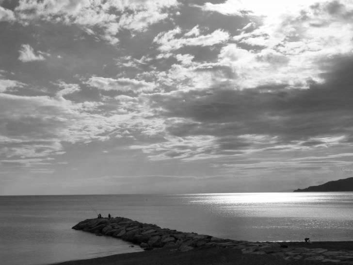 tramonto sul golfo del Tigullio