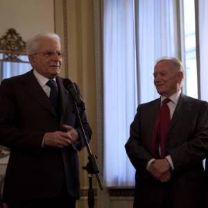 Il Presidente della Repubblica Sergio Mattarella in visita al Touring Club Italiano