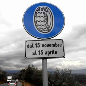 Obbligo di pneumatici invernali, si parte il 15 novembre
