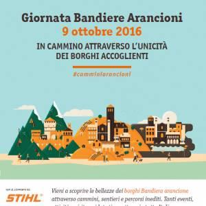 Domenica 9 ottobre la Giornata Bandiere Arancioni 2016