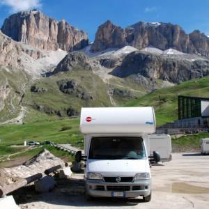 In camper nelle Dolomiti, la val di Fiemme e la val di Fassa