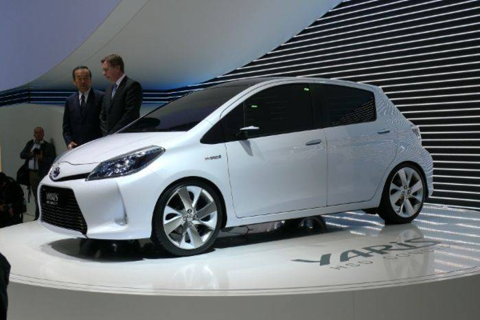 La concept car Toyota Yaris Hsd, ovvero ibrida.