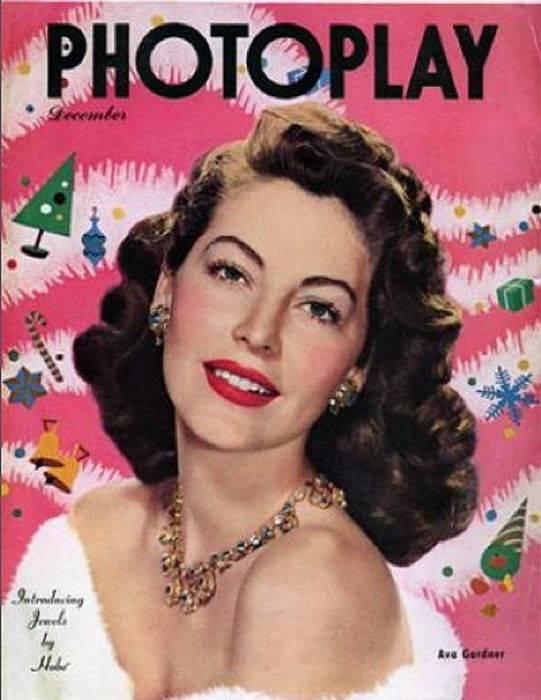 Ava Gardner indossa Costume Jewelry in una foto di copertina.