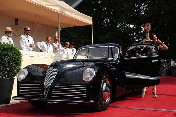 Alfa Romeo 6C 2500 Bertone del 1942, vincitrice della Coppa d'Oro.