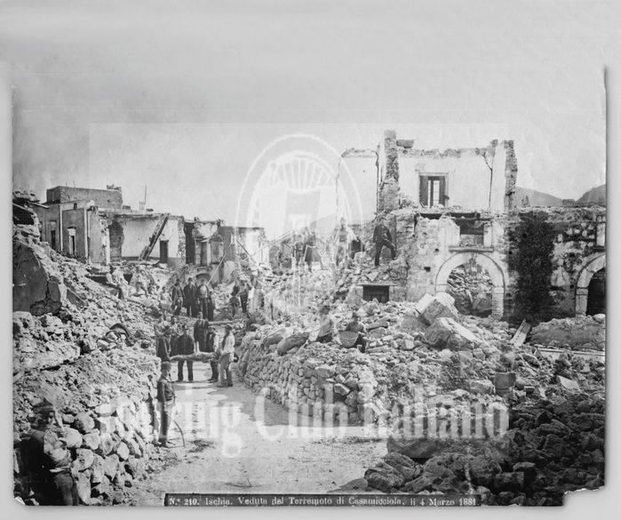 Veduta del terremoto di Casamicciola, Ischia. 1881, Archivio Tci