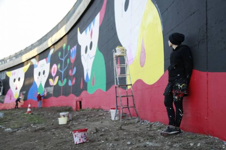 roma: la street art colora il grande raccordo anulare - Arredo Bagno Raccordo Anulare Roma