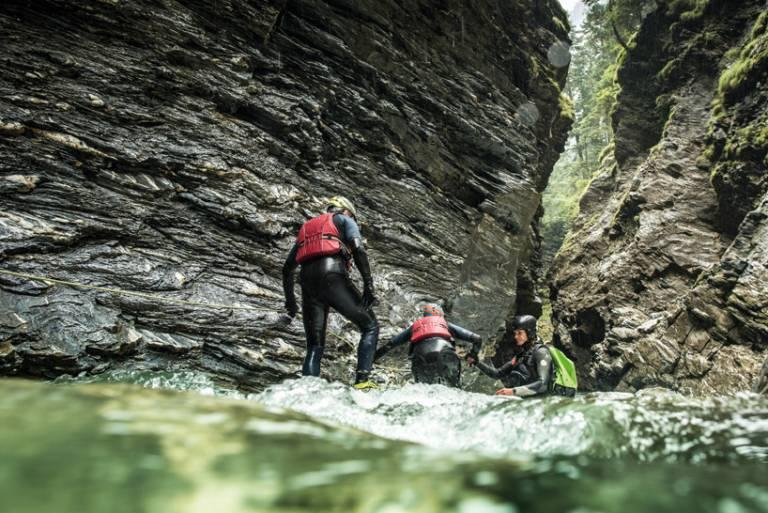 Canyoning nelle gole della Viamala (Grigioni)