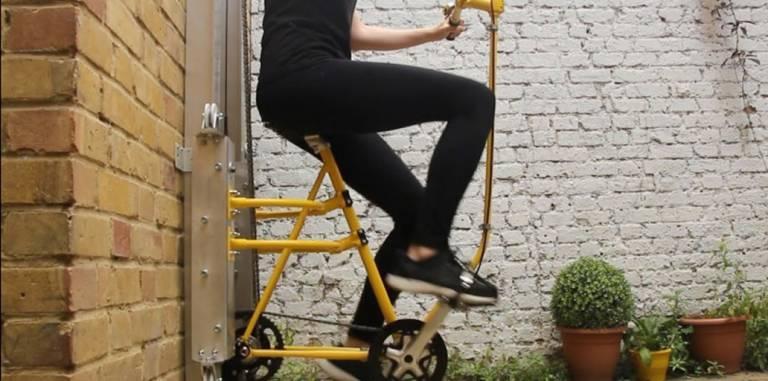 Vycle, l'unica bicicletta al mondo che va in verticale