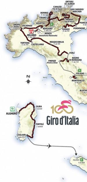 Inizia il Giro del Touring: il Tci racconta l'edizione 100 del Giro d'Italia