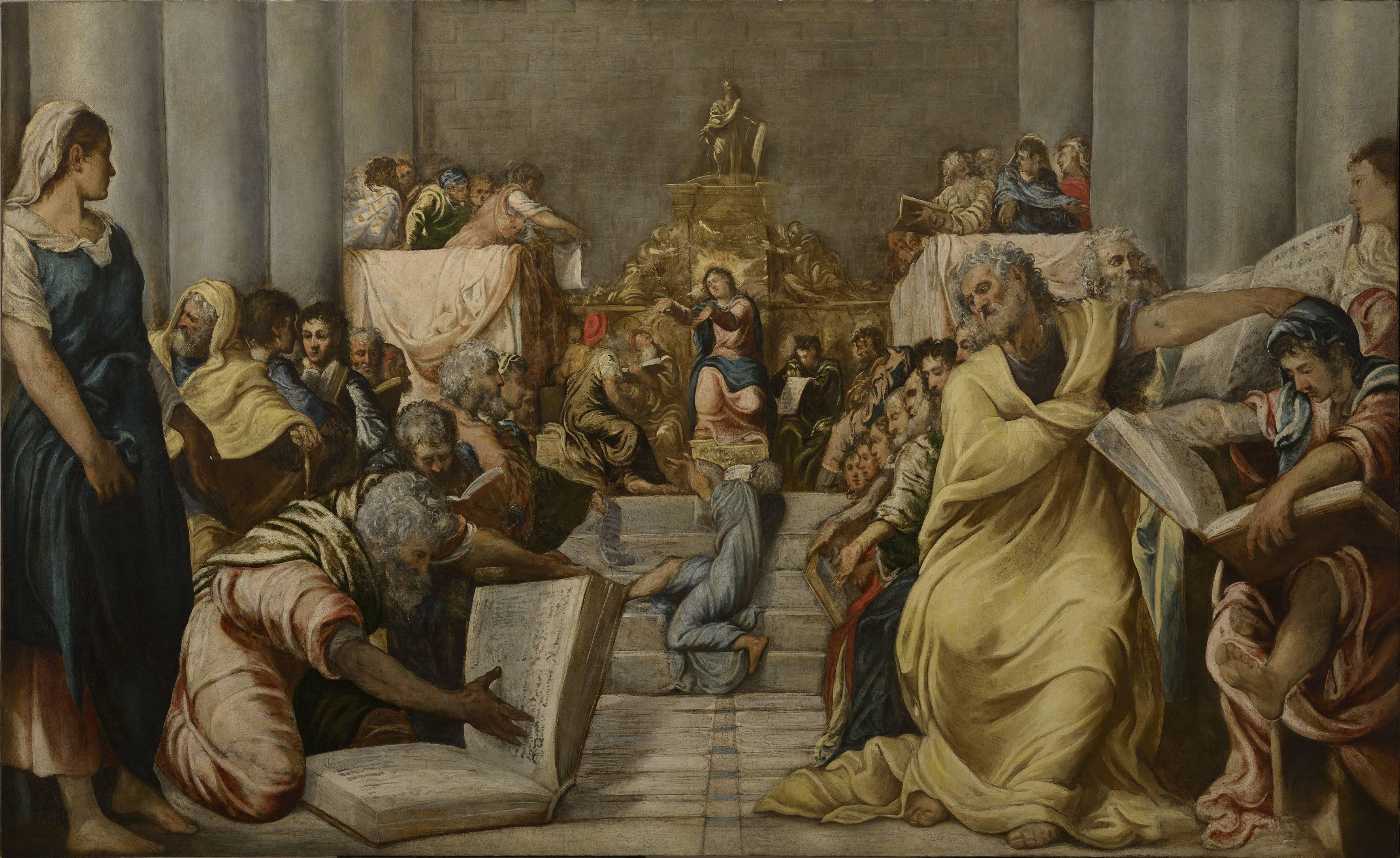 Risultati immagini per tintoretto cristo al tempio