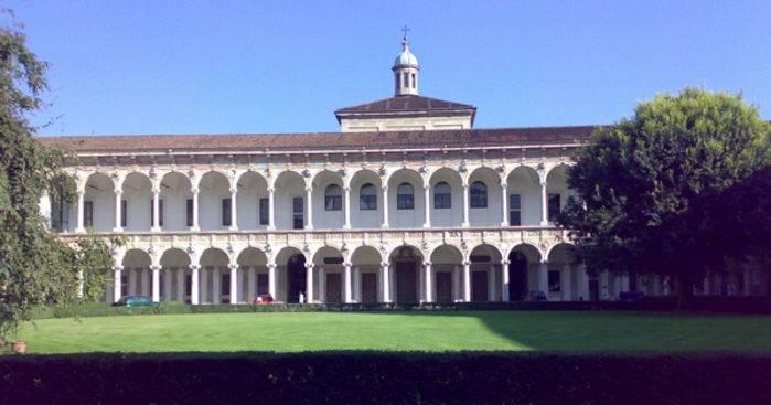 Il cortile principale della Ca' Granda a Milano.