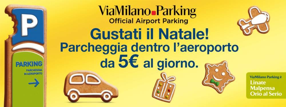 Gustati il Natale! Parcheggia dentro l'aeroporto da 5€ al giorno.
